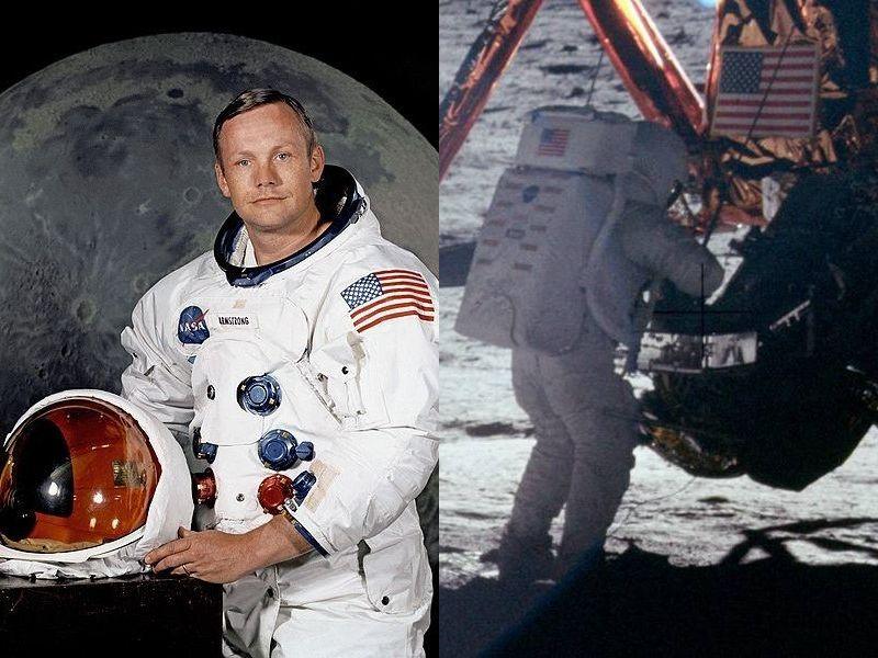 月に向かって発射したアポロ11号を見つめる…アームストロング船長の ...