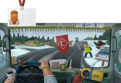 車の運転席から見る世界各国のイメージ11