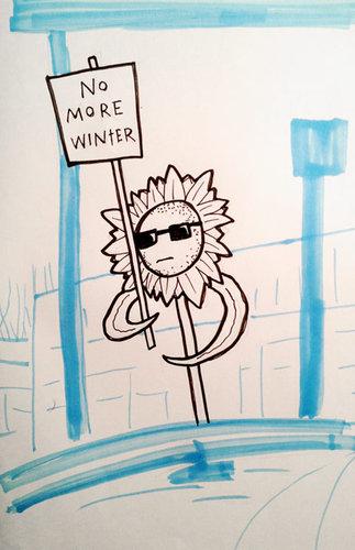 『冬』に抗議活動02