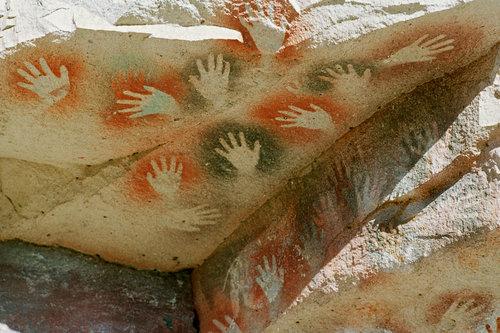 ラス・マノス洞窟の手形03