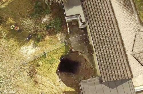 裏庭に穴が開いたのでドローンで撮影06