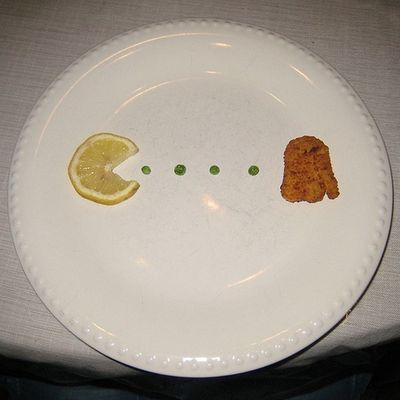 レモンとから揚げでパックマン
