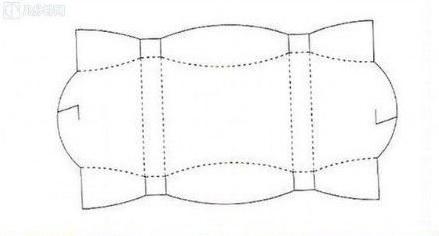 ギフトボックスの展開図06