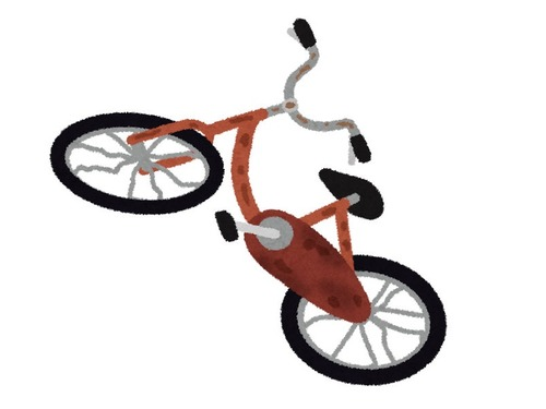 無人の自転車を800回押したら00