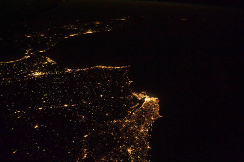 ISSから見た夜景19