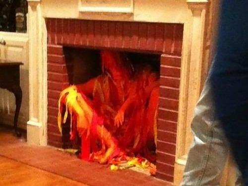 暖炉コスプレ02