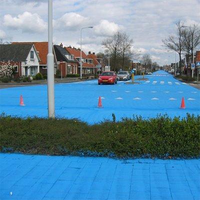 真っ青に染めてしまったロッテルダムの建物12