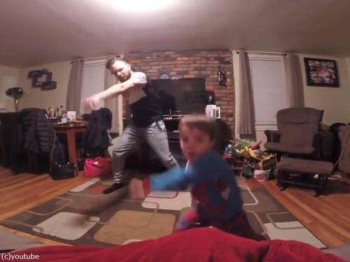 世界一キュートな父と息子のダンス02