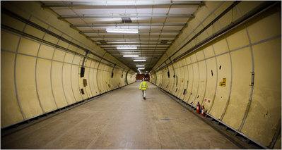 ロンドンの地下トンネル