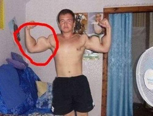 筋肉ムキムキ…合成写真16