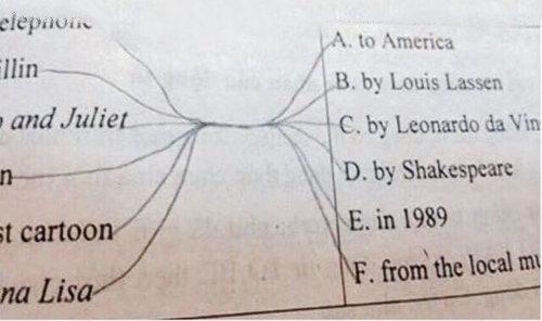 正しい回答を線で結びなさい01