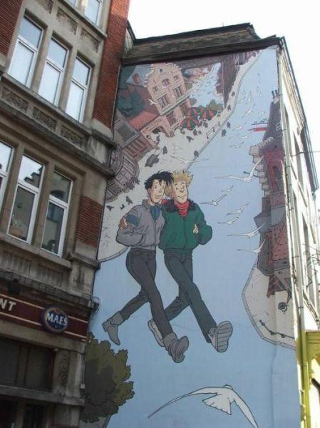 ベルギー・ブリュッセルに描かれたコミックス・グラフィティ29
