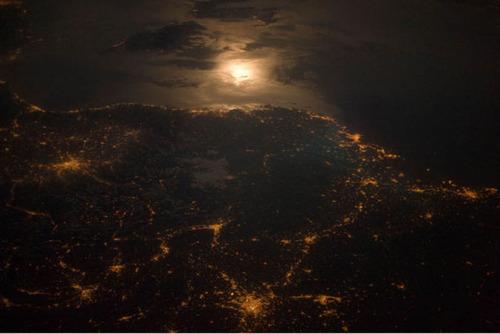ISSから見た夜景07