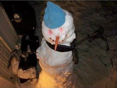 雪ダルマ02