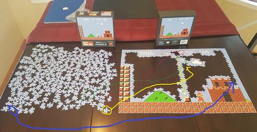 スーパーマリオのジグソーパズルを途中で挫折05