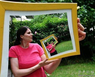 合わせ鏡のような不思議な写真01