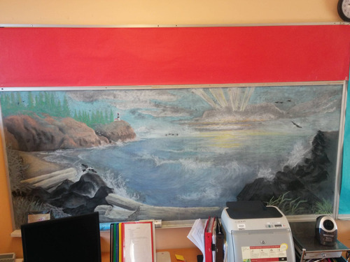 代講の先生によって描かれた黒板の絵01
