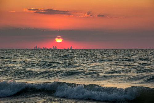 インディアナ州から見たシカゴ01
