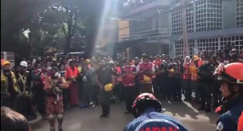 メキシコで日本の救助隊が派遣03