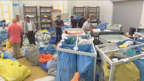 8年間ブロックされていた10トンの郵便物がパレスチナに01