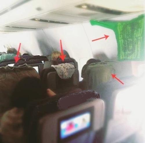 マナ—の悪い海外の乗客10