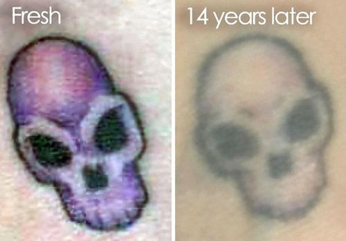タトゥーの劣化20