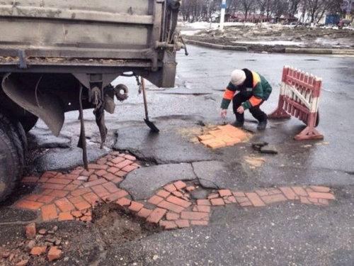 ロシア流の道路補修02