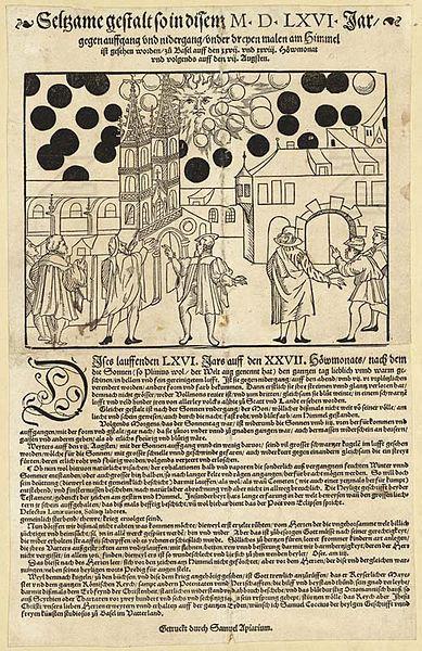 1561年の上空で謎の飛行物体が戦った記録03