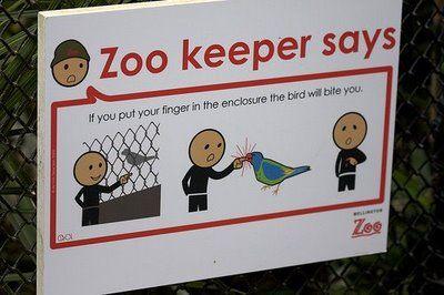 動物園の面白標識04
