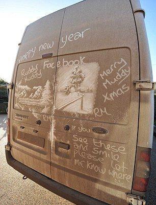 汚れた車でアート08
