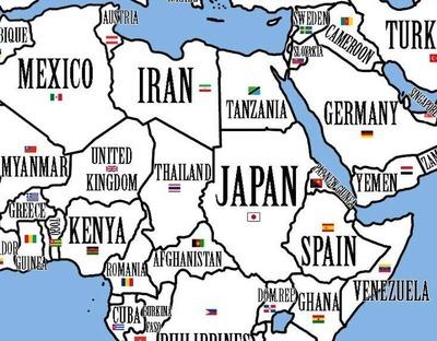 シャッフル世界地図02