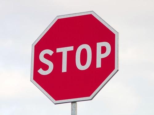 交通標識と木00
