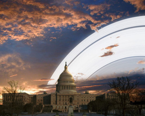 もし地球に土星の輪があったら…地上からはこう見える01