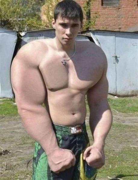 筋肉ムキムキ…合成写真19