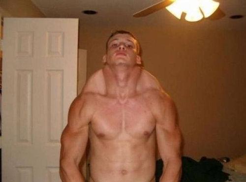 筋肉ムキムキ…合成写真11