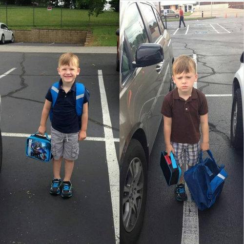 11今昔の写真、あの日と今、学校1日目と2日目