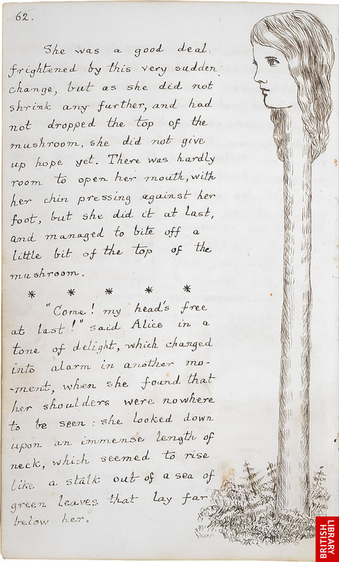 「不思議の国のアリス」のオリジナル原稿08