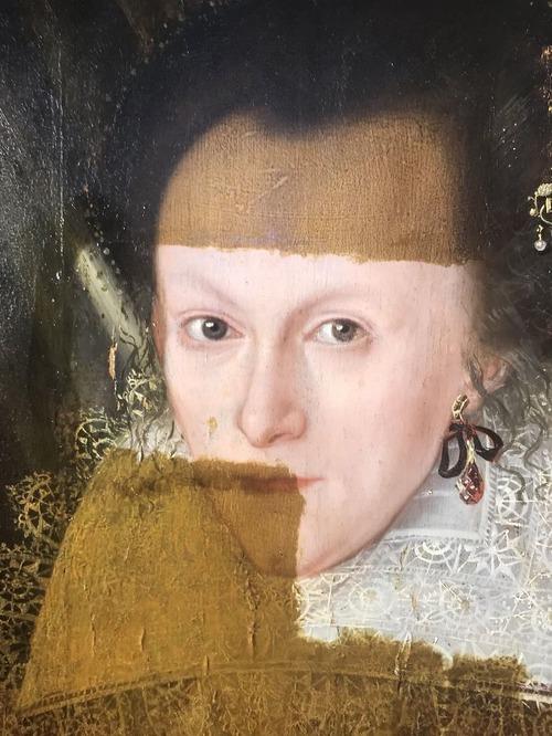 400年前の絵画の汚れを取り除いた結果05