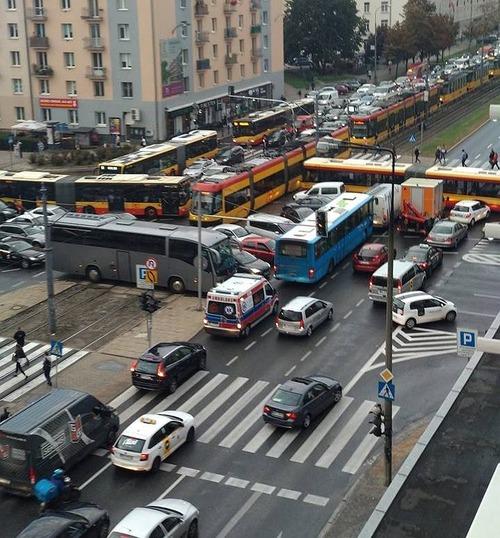 ポーランドの渋滞01