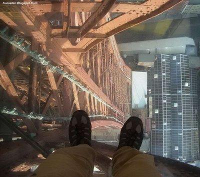 ガラス張りの高層ビルの下12