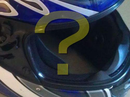 バイク事故後のヘルメット00