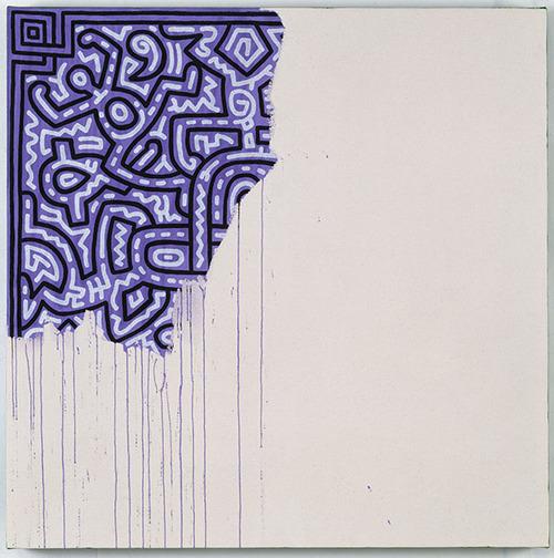キース・ヘリング「未完の絵画」(1990)