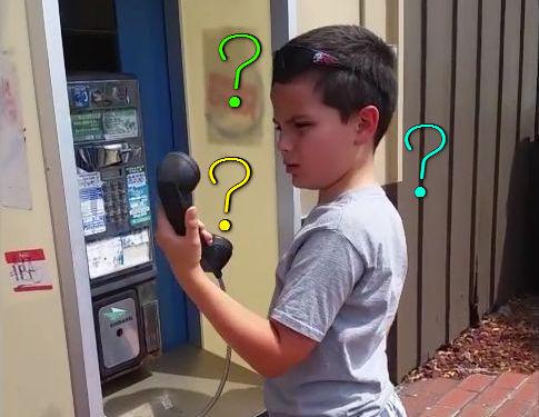 今時の子供が公衆電話を見たとき00