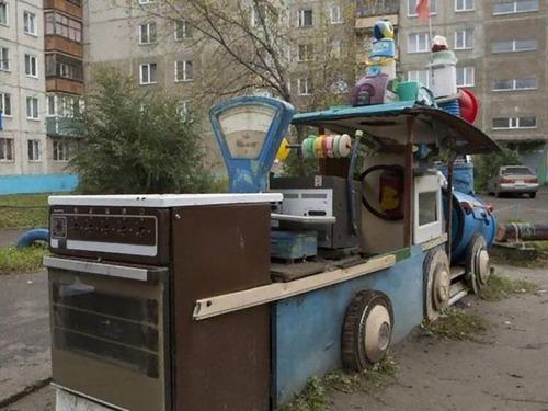 ロシアの遊具、手作り編00