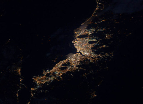 ISSから見た夜景14