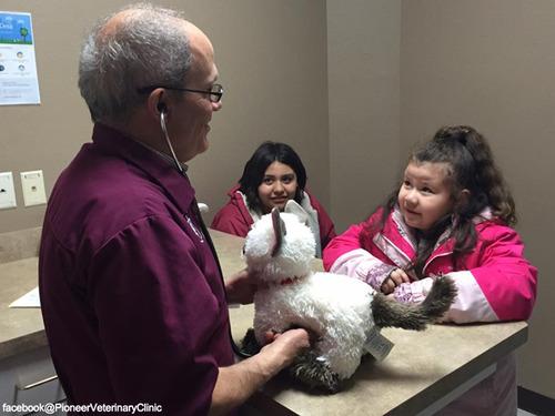 少女が動物病院に猫のぬいぐるみの診察を依頼…獣医の対応に感動04