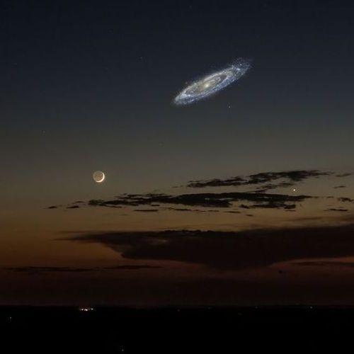 アンドロメダ銀河が明るかったら01