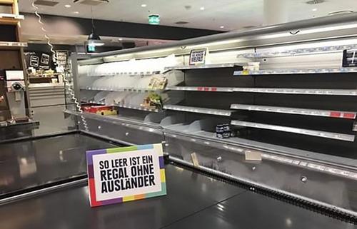 ドイツのスーパーの人種差別アピール03