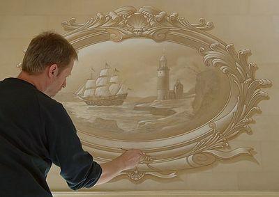 壁の絵が立体的に見えるアート03