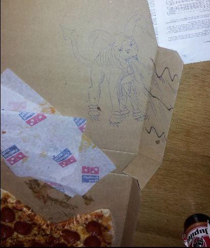 ピザのデリバリーの絵03